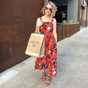 Apolis City Market Bag with Leather Straps